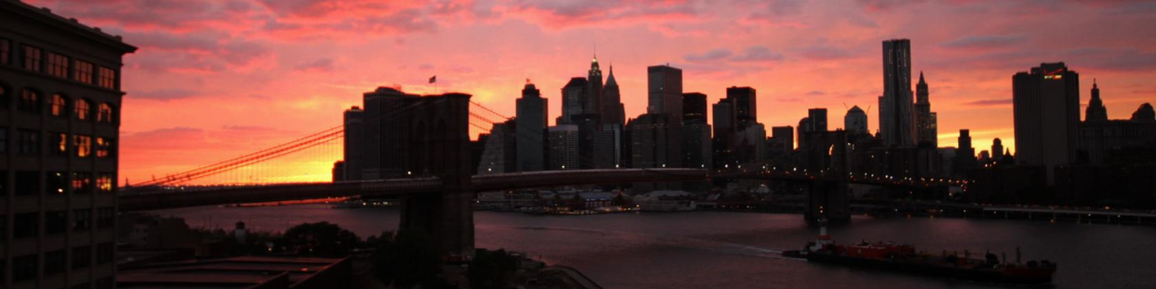 Brooklyn Bridge sunset