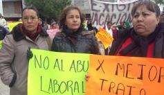 Women protesting labor abuses in Juárez, Mexico. Credit: Yessica Morales